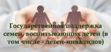 Поддержка семей, воспитывающих детей, в том числе детей-инвалидов